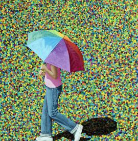 Rainbow Umbrella / Paraguas de arco iris