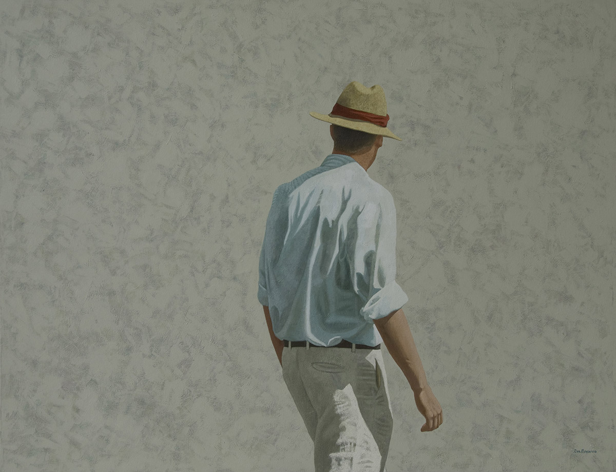 Man with a straw hat