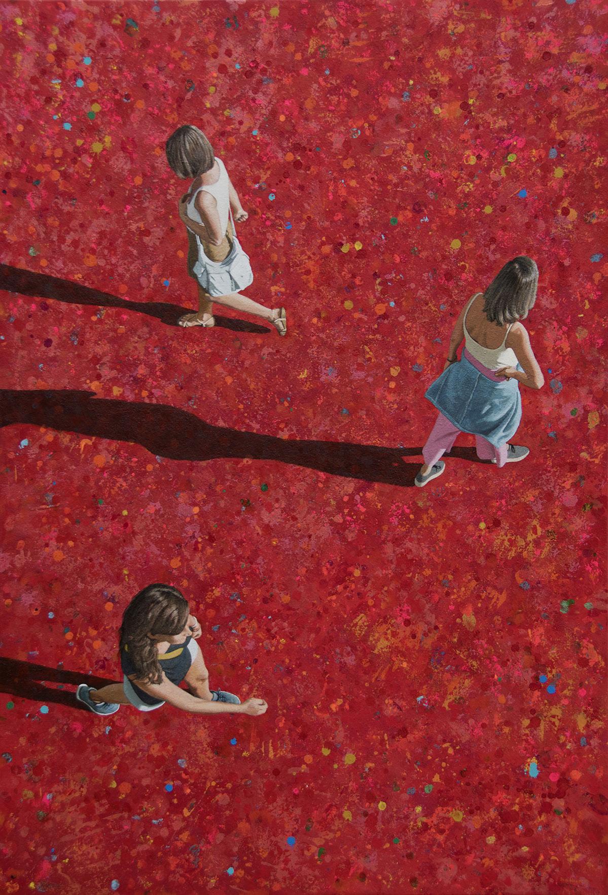 Three Women on Red / Tres mujeres sobre rojo